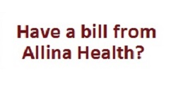 Have bill from Allina Health? title=